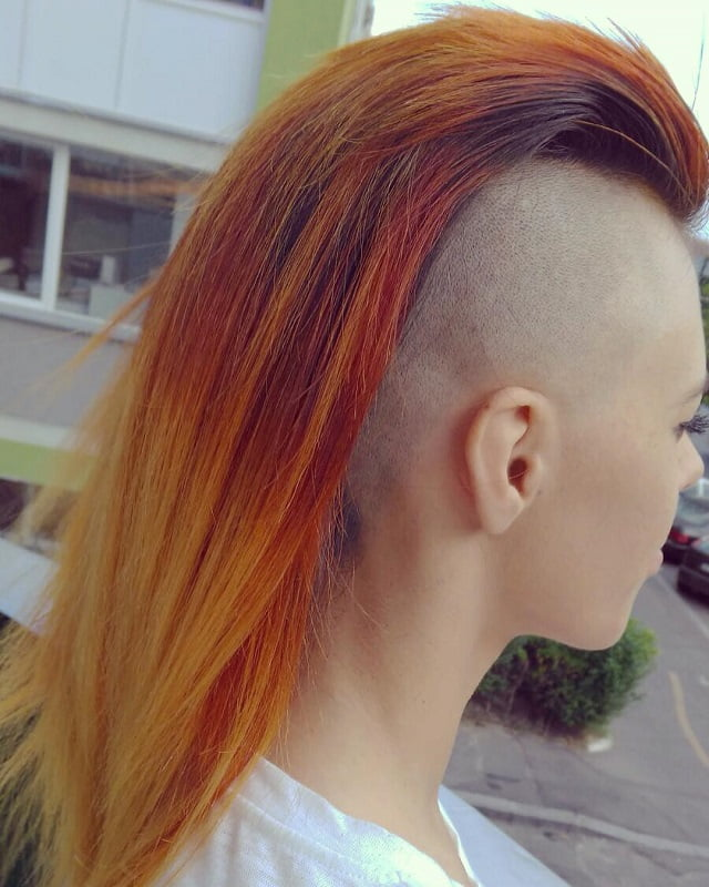 Ombre Mohawk with Shaved Sides