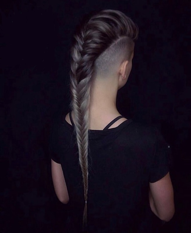 fishtail braided mohawk hairstyle for women