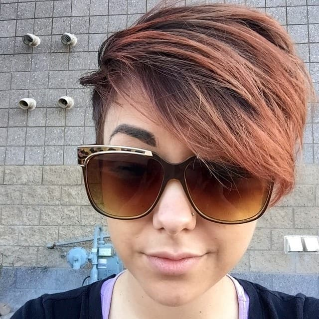 ombre pixie with side bangs