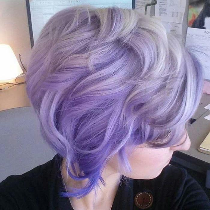lavender ombre pixie for women