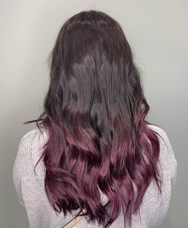 Plum Brown Ombre Hair