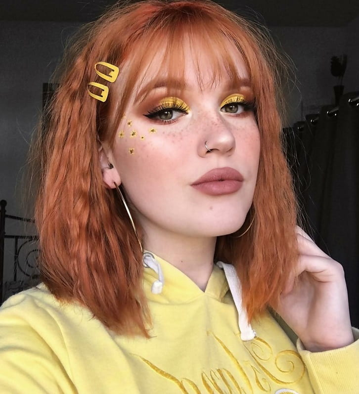 Copper Bob with See-Through Bangs