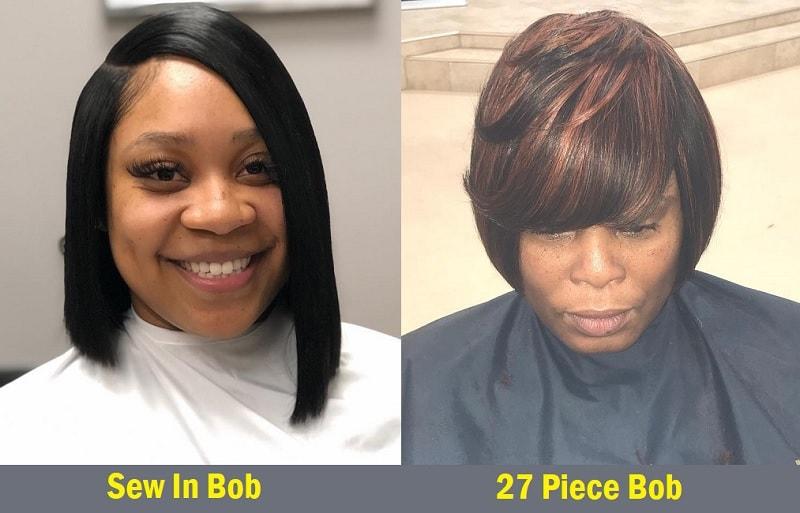 sew in bob vs 27 piece bob