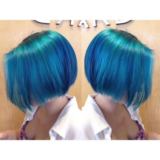 short mermaid blue hairstyles