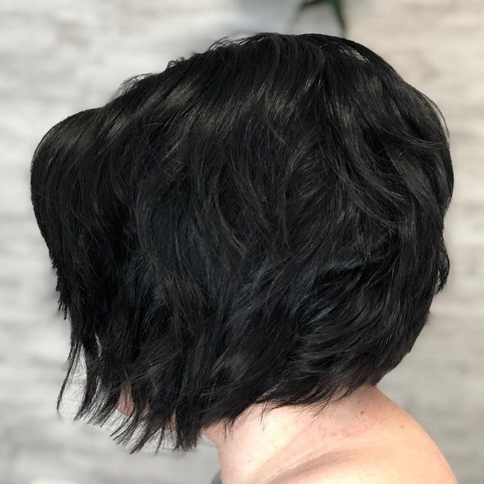 bob with short layers
