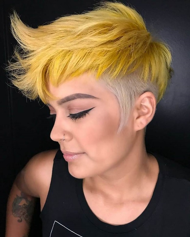 Two-Toned Textured Pixie Cut