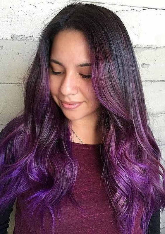aubergine hair color