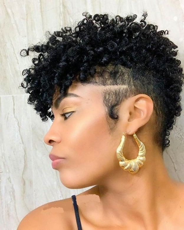 black pixie cut for afro hair