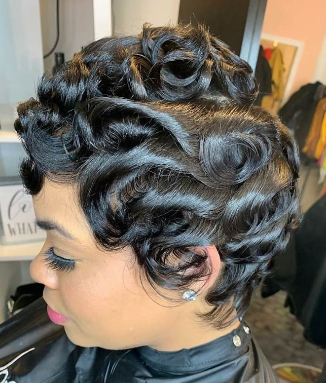 Short African American Pixie Cut
