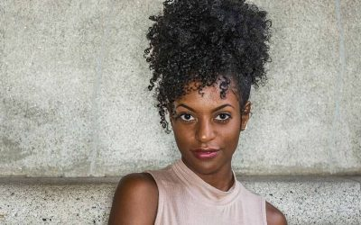 black girl with ponytail updo