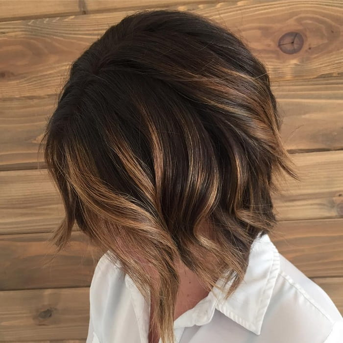 ombre caramel balayage pixie