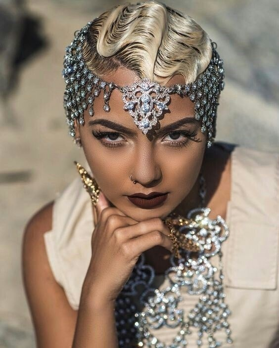 finger wave hairstyles with weave