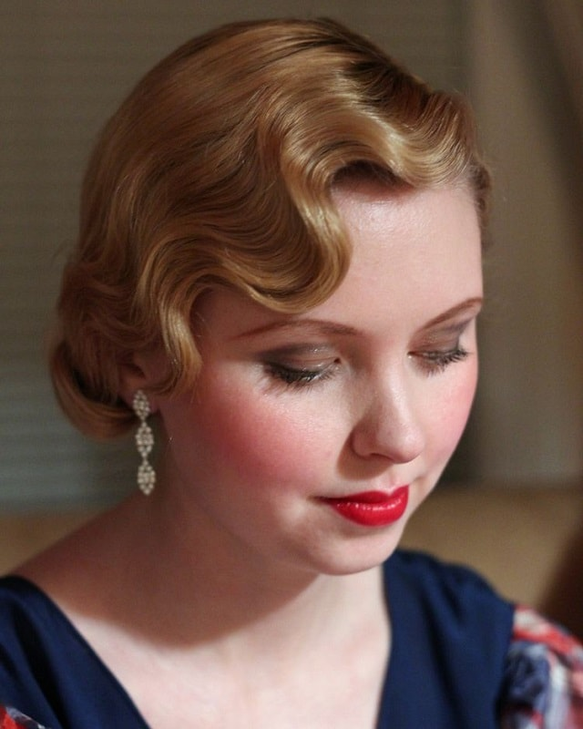 finger wave pixie with weave