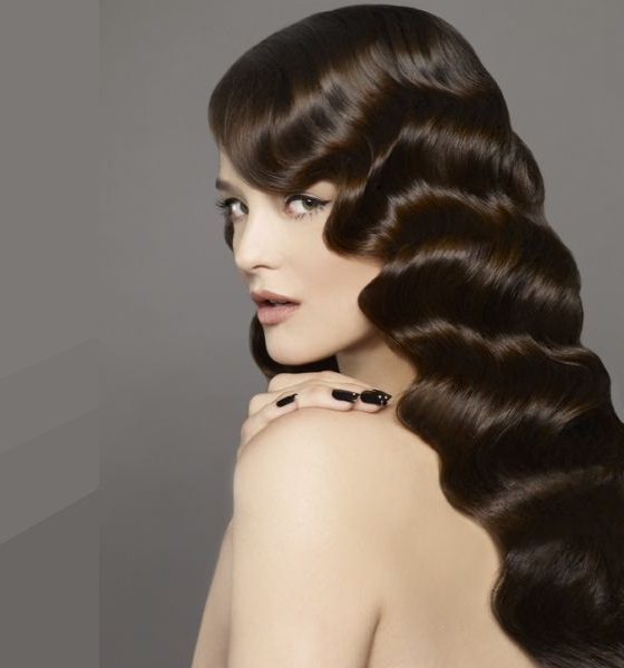 long silky finger waves with weave