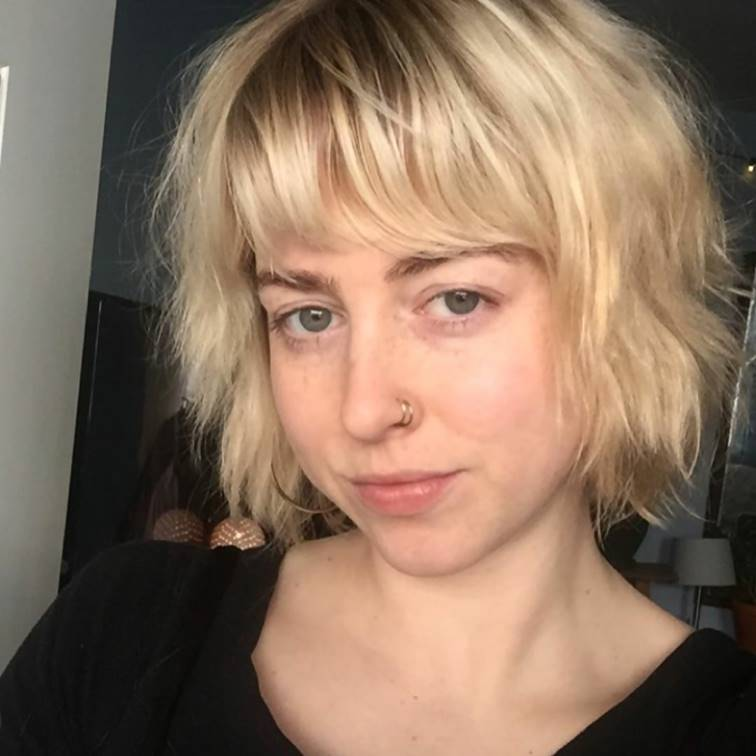 Blonde Wavy French Bob