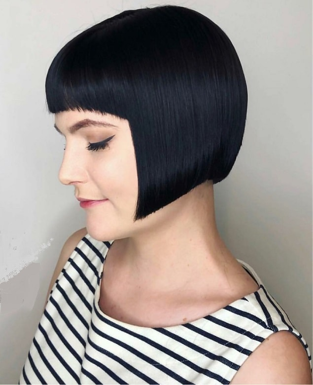 Inverted French Bob for Straight Hair