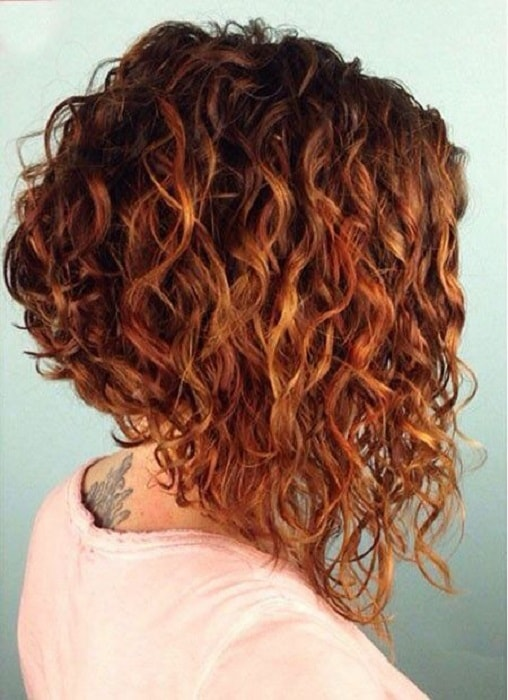 long bob for thick curly hair