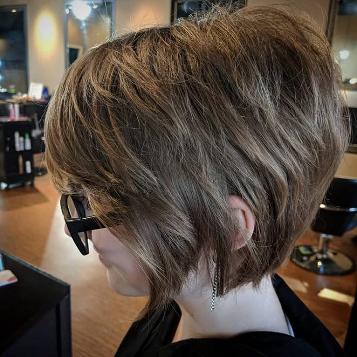 long graduated pixie cut for thick hair