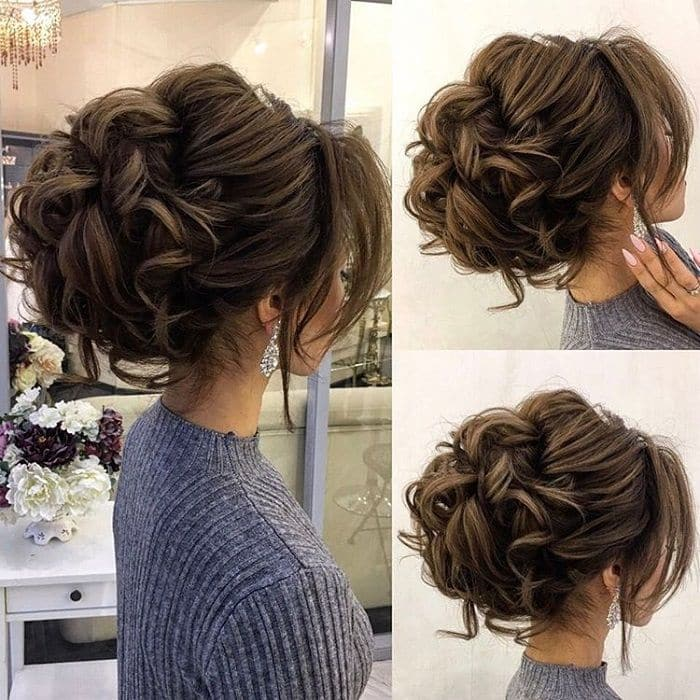 Messy Pin Curl Updofor Women