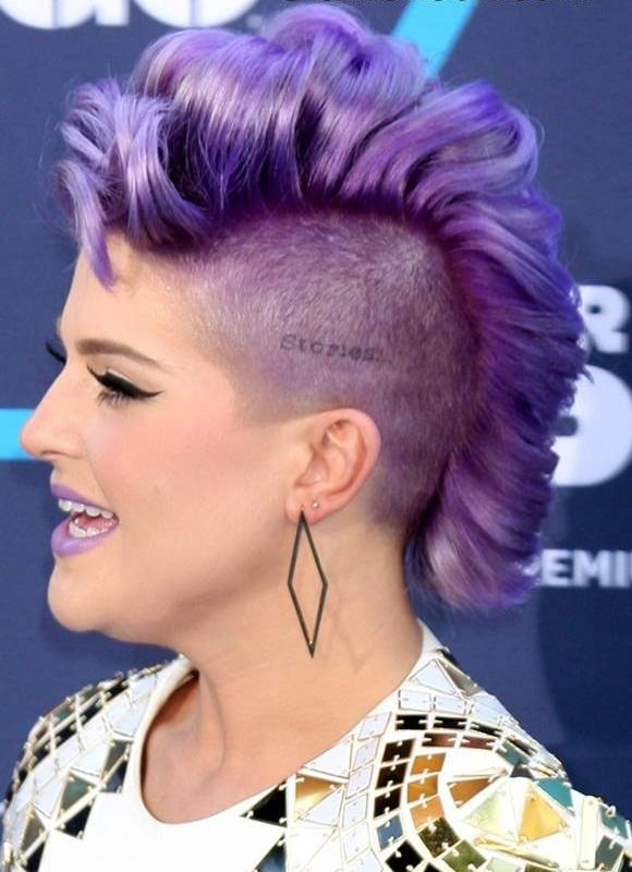 mohawk purple with black roots