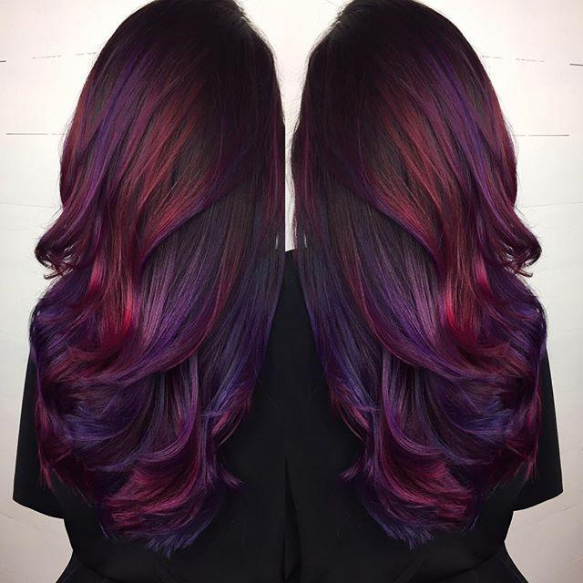 purple black hair colors
