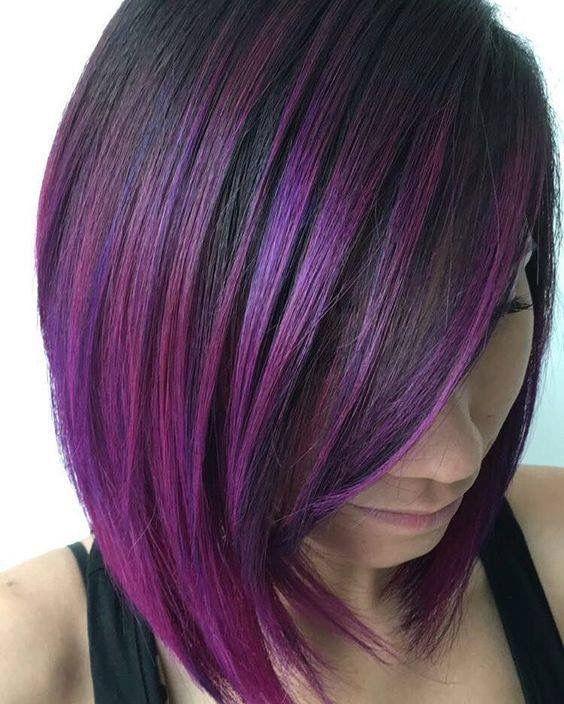 purple black bob
