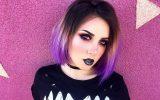 purple ombre short hair