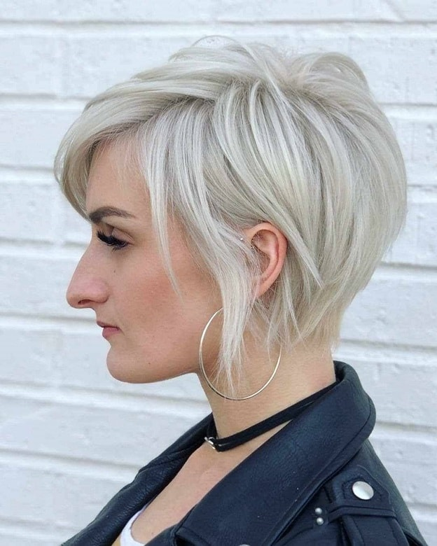 Short Blonde Pixie with Side Bangs