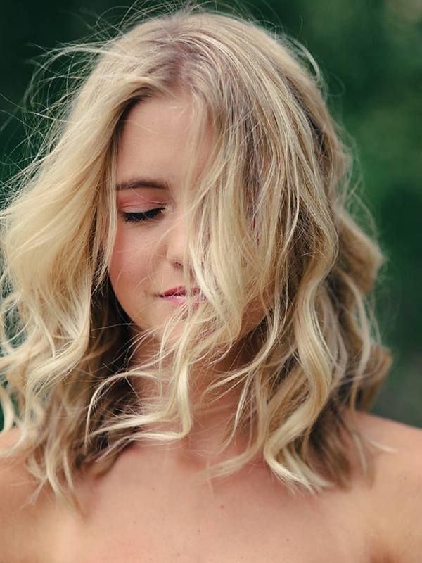 perm on honey blonde hair