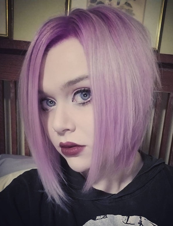 Pastel Purple A-Line Lob