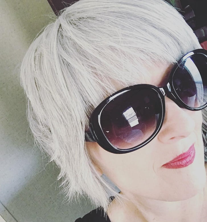 short grey shag for fine hair