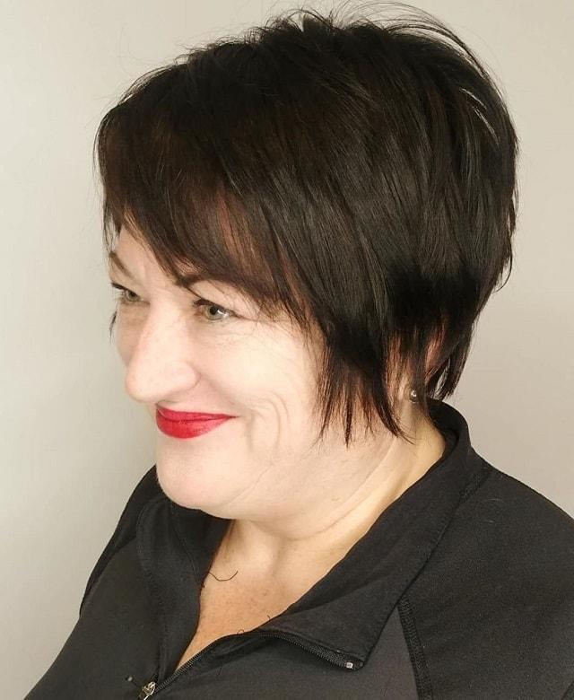 older women short shag for fine hair
