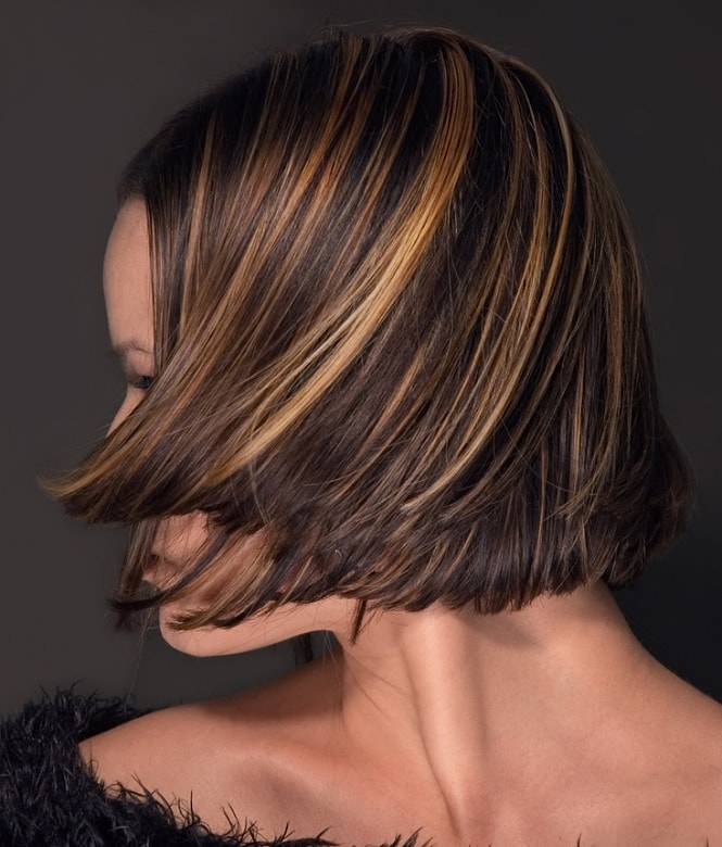 modern stacked layered bob