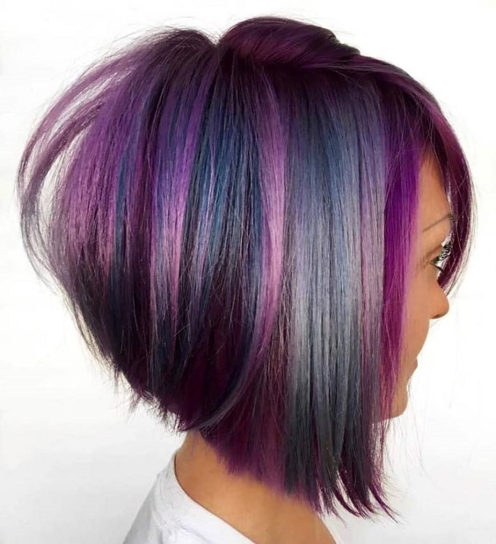 vibrant stacked layered bob hairstyles
