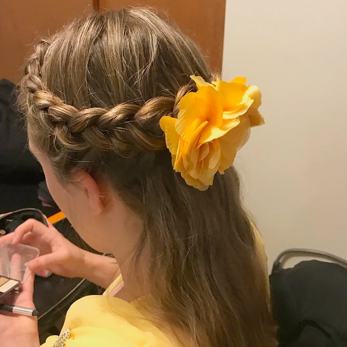 half dutch braid crown hairstyle