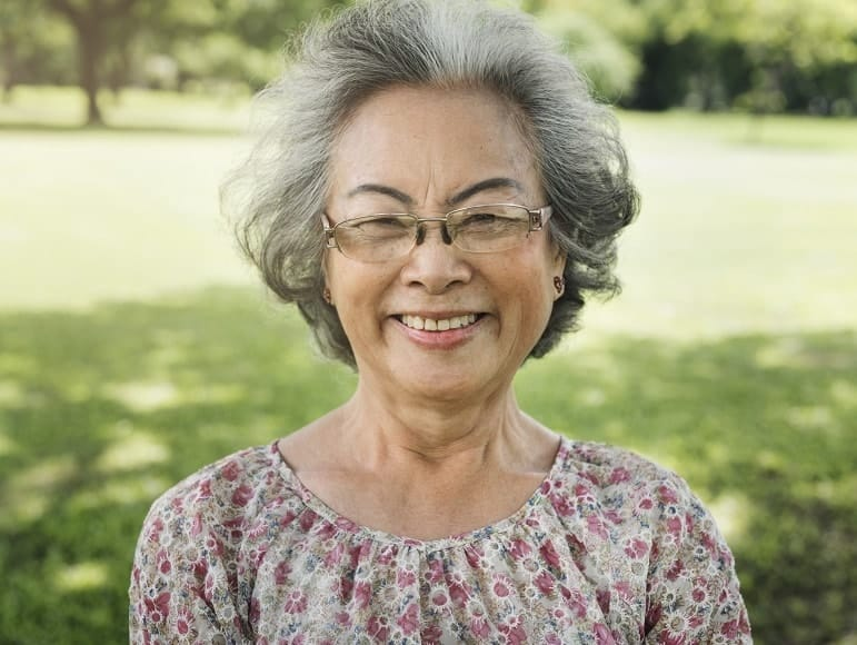 women over 50 with short hair and glasses